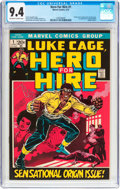 Bronze Age (1970-1979):Superhero, Hero for Hire #1 (Marvel, 1972) CGC NM 9.4 Off-white to whitepages....