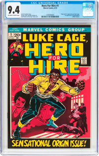 Hero for Hire #1 (Marvel, 1972) CGC NM 9.4 Off-white to white pages