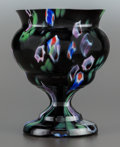 Art Glass:Other , A Czechoslovakian Glass Footed Vase, 20th century. Marks:CZECHOSLOVAKIA. 6-1/4 inches high (15.9 cm). PROPERTY FROMT...