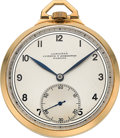 Timepieces:Pocket (post 1900), Longines 18k Gold Pocket Watch, circa 1925. ...