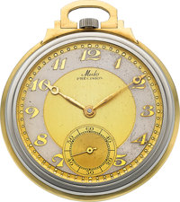 Mido Two Tone Gold Art Deco Pocket Watch