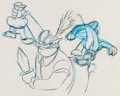 Animation Art:Production Drawing, The Prince and the Pauper Production Drawings Group of 3(Walt Disney, 1990)....