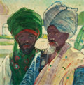 Paintings, Helena Adele Dunlap (American, 1876-1955). Men of Agra, circa 1920-1922. Oil on canvas. 26 x 36 inches (66.0 x 91.4 cm)...