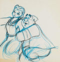 Animation Art:Production Drawing, Beauty and the Beast Belle and Maurice Animation Drawings(Walt Disney, 1991)....