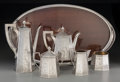 Silver Holloware, American:Coffee Pots, A Six-Piece Silver Barbour Silver Co. Tea and Coffee Service, early20th century. Marks: STERLING, BSC, 1263. 10-3/4 inc...(Total: 6 Items)