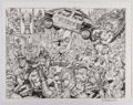 Original Comic Art:Splash Pages, Bruce Zick Atomic Legion Double Page Splash Original Art(2014)....
