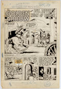 Original Comic Art:Splash Pages, Anthony Cataldo Whiz Comics #137 Splash Page Original Art(Fawcett Comics, 1951)....