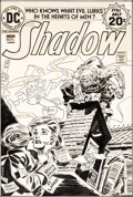 Original Comic Art:Covers, Frank Robbins The Shadow #7 Cover Original Art (DC,1974)....