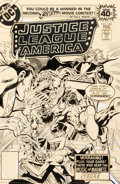 Original Comic Art:Covers, Rich Buckler and Dick Giordano Justice League of America#163 Cover Original Art (DC, 1979)....