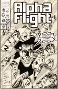 Original Comic Art:Covers, Tom Morgan Alpha Flight #104 Cover Original Art (Marvel,1992)....