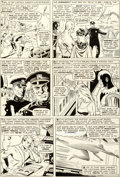 Original Comic Art:Panel Pages, Don Heck and Wally Wood Avengers #21 Story Page 9 OriginalArt (Marvel, 1965)....