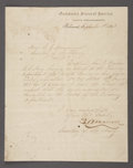 Military & Patriotic:Civil War, STEPHEN MALLORY AUTOGRAPH LETTER SIGNED, CONFEDERATE SECRETARY OF NAVY, WRITES OFF TWO MILLION DOLLARS IN 1863....