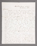 Military & Patriotic:Civil War, ROBERT E. LEE LETTER SIGNED, MARCH 16TH 1863, TO GENERAL LONGSTREET....