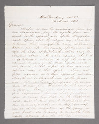 ROBERT E. LEE LETTER SIGNED, MARCH 16TH 1863, TO GENERAL LONGSTREET