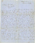 Military & Patriotic:Civil War, GENERAL HENRY A. WISE AUTOGRAPH LETTER SIGNED TO GEN. ELZEY, 1863....