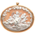 Estate Jewelry:Brooches - Pins, Victorian Shell Cameo, Gold Pendant-Brooch . ...