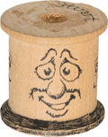 Original Comic Art:Miscellaneous, Robert Crumb Stuart Decorated Spool Original Art (2012)....