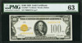 Fr. 2405* $100 1928 Gold Certificate. PMG Choice Uncirculated 63