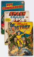 Golden Age (1938-1955):Miscellaneous, Comic Books - Assorted Golden Age Comics Group of 10 (Various Publishers, 1940s) Condition: Average FR.... (Total: 10 Comic Books)