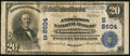 National Bank Notes:Kentucky, Lawrenceburg, KY - $20 1902 Plain Back Fr. 652 The Anderson NB Ch.# (S)8604. ...
