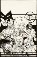 George Perez Amazing Heroes #50 Cover New Teen Titans Original Art (Fantagraphic Comic Art