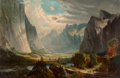 Fine Art - Painting, American:Antique  (Pre 1900), American School (19th Century). Valley Landscape. Oil oncanvas. 23-1/4 x 35-1/4 inches (59.1 x 89.5 cm). ...