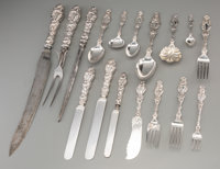 A One Hundred Forty-Two Piece Whiting Lily Pattern Silver Flatware Set, New York, Ne