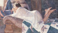 Fine Art - Work on Paper, Steve Hanks (American, 1949-2014). Matters of the Heart,1990. Watercolor on paper. 28-1/2 x 44 inches (72.4 x 111.8 cm)...