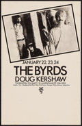 "Movie Posters:Rock and Roll, The Byrds with Doug Kershaw at The Boston Tea Party (Boston TeaParty, 1970). Concert Poster (11.25"" X 17.5""). Rock and Roll..."