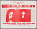 """Movie Posters:Comedy, The Cheech and Chong Show (Centre Stage, 1974). Concert Poster (17"""" X 22""""). Comedy.. ..."""