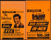 Bobby Vee and His Band and Show & Others Lot (America's Best Attractions, 1960s). Concert Window Cards (2) (14&q...