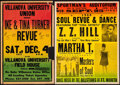 """Movie Posters:Rock and Roll, Ike and Tina Turner Revue & Other Lot (Villanova University,1971). Concert Window Cards (14"""" X 22"""" & 17"""" X 22""""). Rock andR... (Total: 2 Items)"""