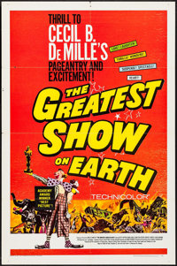 "The Greatest Show on Earth & Others Lot (Paramount, R-1967). One Sheets (2) (27"" X 41"") & Arge..."