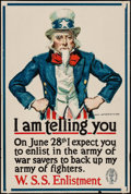 "Movie Posters:War, World War I Propaganda by James Montgomery Flagg (U.S. GovernmentPrinting, 1918). War Savings Stamps Poster (20"" X 30"") ""I ..."