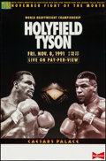 "Movie Posters:Sports, Holyfield/Tyson at Caesars Palace (TVKO, 1991). Boxing Poster (26"" X 39.5""). Sports.. ..."