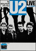 "U2: The Unforgettable Fire (Island, 1984). Tour Poster (23.5"" X 33""). Rock and Roll"