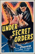 "Movie Posters:War, Under Secret Orders (Guaranteed Pictures, 1943). One Sheets (2)Identical (27"" X 41""). War.. ... (Total: 2 Items)"