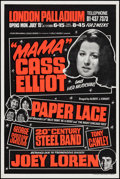 "Movie Posters:Rock and Roll, ""Mama"" Cass Elliot at the London Palladium (Louis Benjamin &Leslie Grade, 1974). Concert Poster (20"" X 30""). Rock and Roll...."