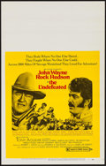 """Movie Posters:Western, The Undefeated (20th Century Fox, 1969). Window Card (14"""" X 22"""").Western.. ..."""