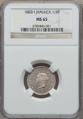 Jamaica:British Colony, Jamaica: British Colony. Victoria 1/4 Penny (Farthing) 1882-H MS65 NGC,...