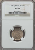 Jamaica:British Colony, Jamaica: British Colony. Victoria 1/4 Penny (Farthing) 1880 MS64 NGC,...