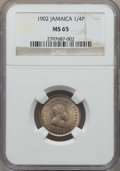 Jamaica:British Colony, Jamaica: British Colony. Edward VII 1/4 Penny (Farthing) 1902 MS65 NGC,...