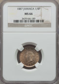 Jamaica:British Colony, Jamaica: British Colony. Victoria 1/4 Penny (Farthing) 1887 MS66 NGC,...
