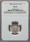 Jamaica:British Colony, Jamaica: British Colony. Victoria 1/4 Penny (Farthing) 1885 MS64 NGC,...