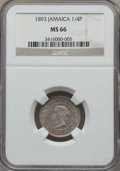 Jamaica:British Colony, Jamaica: British Colony. Victoria 1/4 Penny (Farthing) 1893 MS66 NGC,...