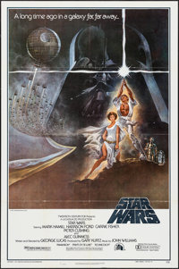 "Star Wars (20th Century Fox, 1977). Second Printing One Sheet (27"" X 41"") Style A. Science Fiction"