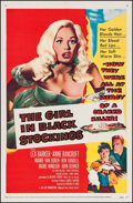 "Movie Posters:Crime, The Girl in Black Stockings (United Artists, 1957). One Sheet (27""X 41""). Crime.. ..."