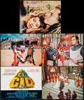 "Movie Posters:Adventure, El Cid (Allied Artists, 1961). Title Lobby Card & Lobby Cards(4) (11"" X 14""). Adventure.. ... (Total: 5 Items)"