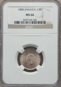 Jamaica:British Colony, Jamaica: British Colony. Victoria 1/4 Penny (Farthing) 1888 MS66 NGC,...