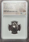 Ancients:Greek, Ancients: SARONIC ISLANDS. Aegina. Ca. 525-480 BC. AR stater (11.67gm). NGC Choice VF 4/5 - 3/5. ...